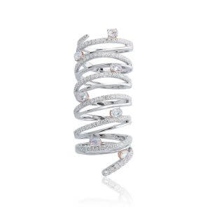 The Diamond Slinky Ring
