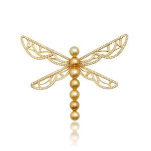 The Gold Dragonfly Brooch