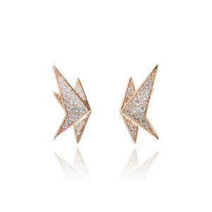 Ninja Crane Rose Gold Petite Earrings